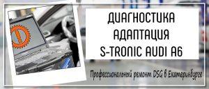 Диагностика Адаптация ДСГ Ауди А6